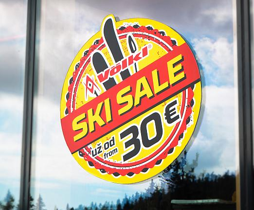 Tvarovo predrezaná samolepka Ski Sale