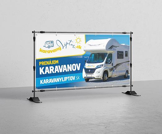 Banner prenájom karavanov