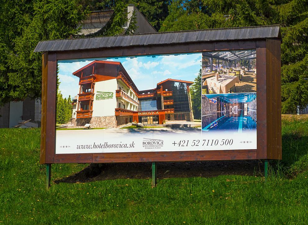 Fóliový billboard Hotel Borovica