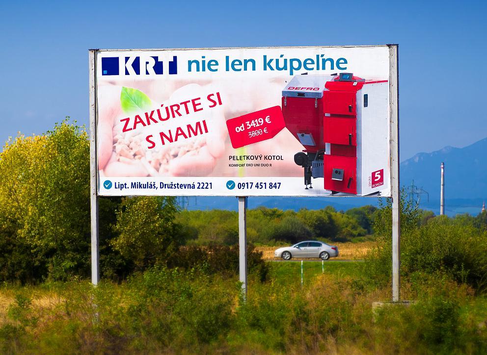 Papierový billboard KRT