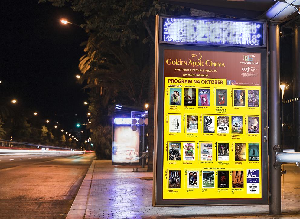 Citylight plagát v exteriéri