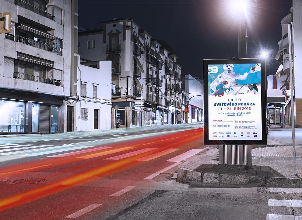 Citylight plagát v presvetlenej vitríne